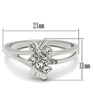 Silver Tone Cute Designer Inspired Cubic Zirconia Ring - SIZE 5 TO 10 image 3