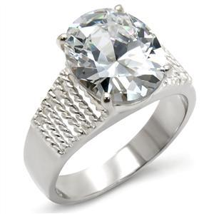 Sterling Silver Oval Cut Cubic Zirconia Engagement Ring - SIZE 10 (LAST ONE) image 2