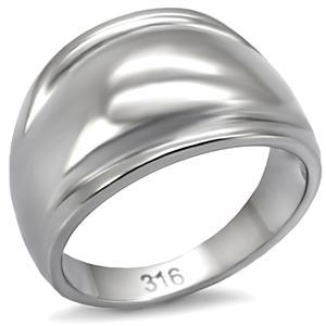 Never Fades Ladie's Stainless Steel Dome Style Simple Band Ring - SIZE 6, 7 image 3