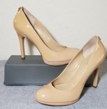 MICHAEL KORS Women's Beige Patent Leather Pumps Classic High Heels Shoes... - $50.00