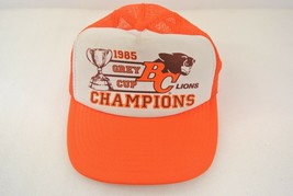 BC Lions Hat 1985 Grey Cup Champions Size M/L Snapback Wilson Vancouver Football - $29.02