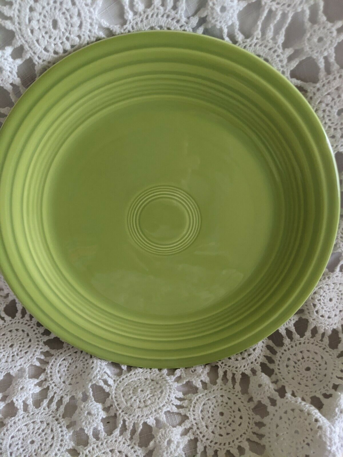 Genuine Fiesta Dinner Plate 9.5 Light Olive Green Vintage Made USA - $14.54