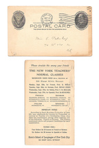 UX18 Sterns School of Languages New York 1905 Preprinted Advertising Pos... - $6.99