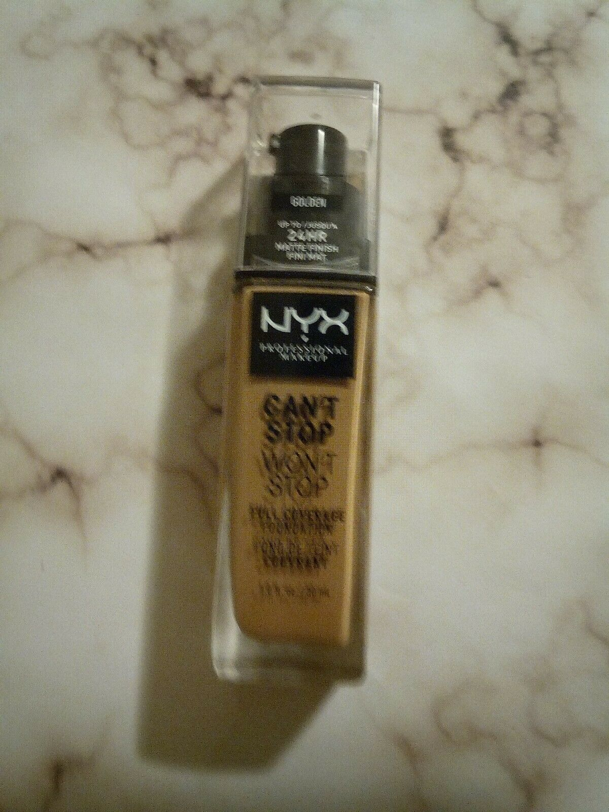 Primary image for NYX CAN'T STOP WON'T STOP24HR MATTE FINISH FULL COVERAGE FOUNDATION GOLDEN!