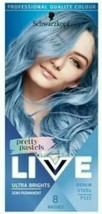 2 X Schwarzkopf Live Intense Or Pastel Denim Steel Blue Semi-Permanent Hair Dye - $24.23