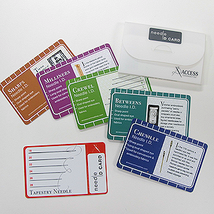Needle ID card set cross stitch needle accessory  - $9.50