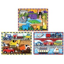 Activity Set of Three Chunky Puzzles from Melissa and Doug, + FREE Activ... - $49.45