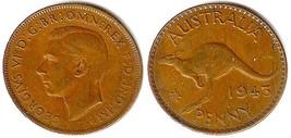 1943 George VI Australia One Penny - $4.90