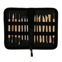 14-Piece Pottery, Clay/Ceramics Tool Set w/ Canvas Zippered Case - US Ar... - $8.59