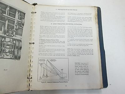 Thew Lorain Power Shovel Cranes Clamshells Draglines Hoes Operation Manual STAIN