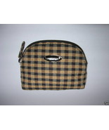 LONGABERGER BLACK & TAN KHAKI CHECK  MINI COIN PURSE - $9.99