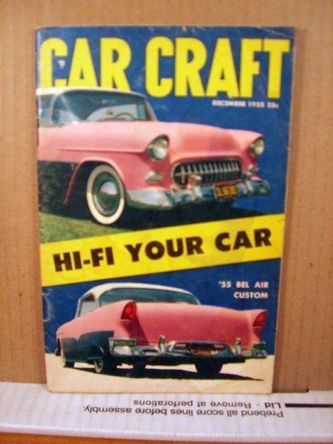 Car Craft Magazine December 1955 Hi-Fi Your car