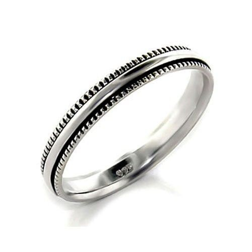 3mm Simple Sterling Silver Band Ring SIZE 7