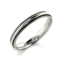 3mm Simple Sterling Silver Band Ring SIZE 7 image 1