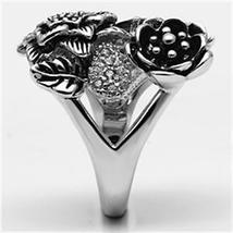 Multiple Flower Garden Style Purple Cubic Zirconia Cocktail Ring SIZE 6 TO 9 image 4
