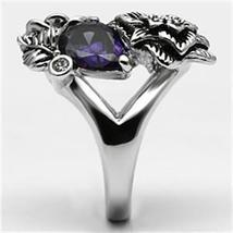 Multiple Flower Garden Style Purple Cubic Zirconia Cocktail Ring SIZE 6 TO 9 image 6