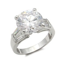 8.5 Carat CZ with Baguette Cubic Zirconia Engagement Ring - SIZE 8 (LAST ONE) image 1