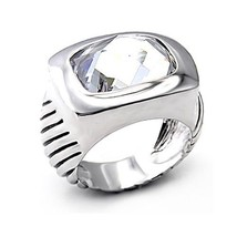 Silver Tone Cubic Zirconia Cocktail Ring - SIZE 8 (LAST ONE) image 1