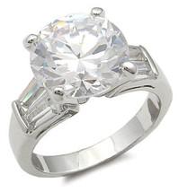 8.5 Carat CZ with Baguette Cubic Zirconia Engagement Ring - SIZE 8 (LAST ONE) image 2
