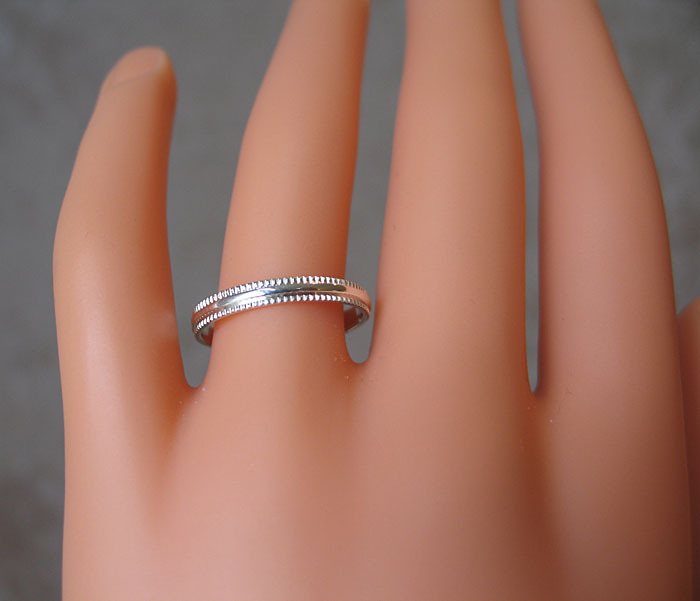 3mm Simple Sterling Silver Band Ring SIZE 7 image 5