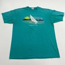 Vintage Catskill New York T-Shirt Mens XL Seafoam Blue Crew Neck 90s - £13.16 GBP