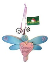 Dragonfly with Heart Baby Ornament 5 inches wide (Mommy's Boy) - $15.00