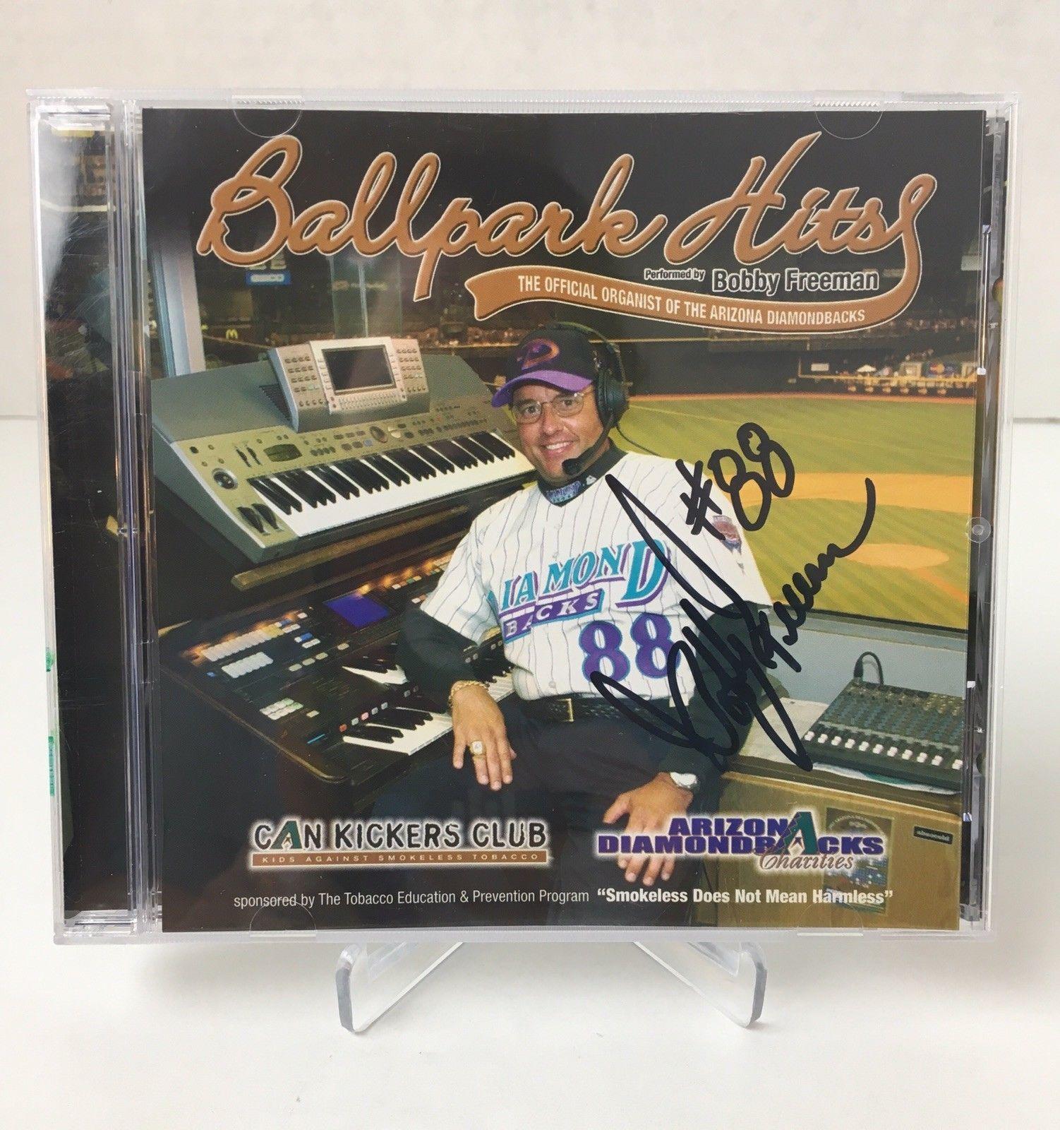 Ballpark Hits by Bobby Freeman Official Organist of Arizona Diamondbacks Signed