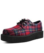 T.U.K. Shoes T2264 Unisex-Adult Creepers, Red Tartan Anarchic Creeper - ... - $58.91