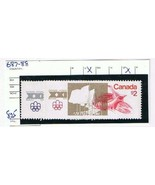 Stamps Canada 1975 Olympic Stadium $1 & $2 Scott 687-8 Used NH - $2.84