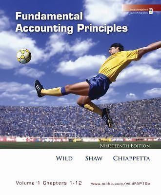 Fundamental Accounting Principles, Vol 1 (Chapters 1-12) by Barbara...