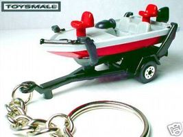 KEY CHAIN RING FISHING BOAT & TRAILER KEYRING TAG / FOB - $29.95