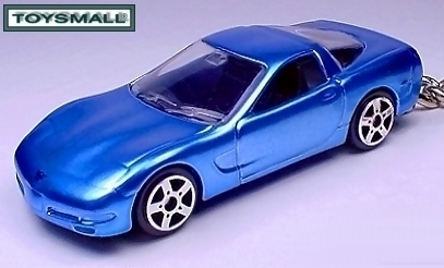 KEY CHAIN 98~~02~2003~2004 BLUE CHEVY CORVETTE VETTE C5