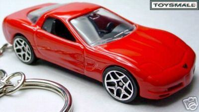 KEY CHAIN TORCH RED CHEVY C5 CORVETTE KEYCHAIN RING FOB
