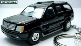 KEY CHAIN RING BLACK CADILLAC ESCALADE KEYRING FOB/TAG - $29.96