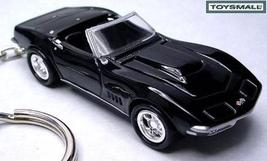 KEY CHAIN 68~1969~1970 BLACK CHEVY CORVETTE CONVERTIBLE - $38.95