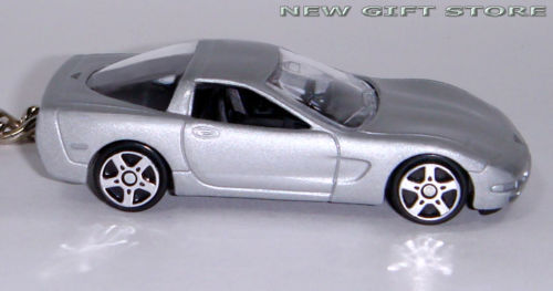 KEY CHAIN 1999~2005 SILVER CHEVY CORVETTE C5 CHEVROLET