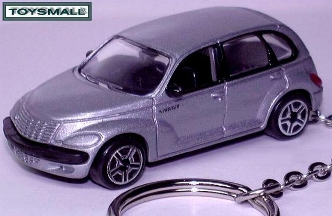 KEY CHAIN RING FOB PEWTER/SILVER PT CRUISER KEYRING TAG