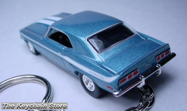 Key Chain Ring Blue White 69/70 Chevy Chevrolet Camaro - $38.98