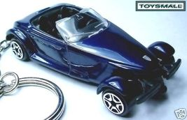 KEY CHAIN RING DARK BLUE CHRYSLER/PLYMOUTH PROWLER COUPE - $32.94