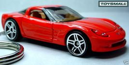 Key Chain Ring Red Chevy New Chevrolet Corvette C6 Fob - $35.98