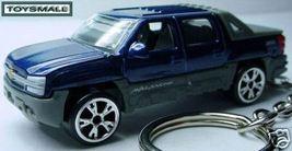 KEY CHAIN RING INDIGO BLUE CHEVY AVALANCHE KEYRING FOB - $39.95