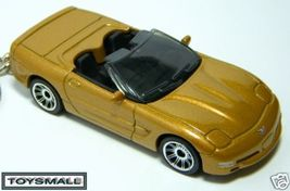 KEY CHAIN RING AZTEC GOLD CHEVY CORVETTE C5 CONVERTIBLE - $24.97