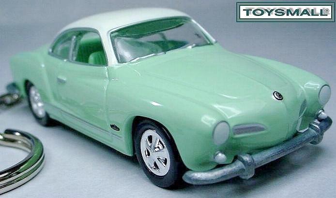 KEY CHAIN 1964/1965 VW VOLKSWAGEN KARMANN GHIA GREEN Bonanza