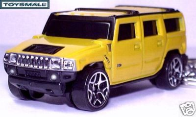 KEY CHAIN 05~2006~2007~2008~2009~2010 YELLOW HUMMER H2