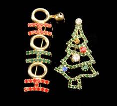 Vintage Christmas Tree brooch / ho ho ho bell brooch / Christmas gift for her /  image 4