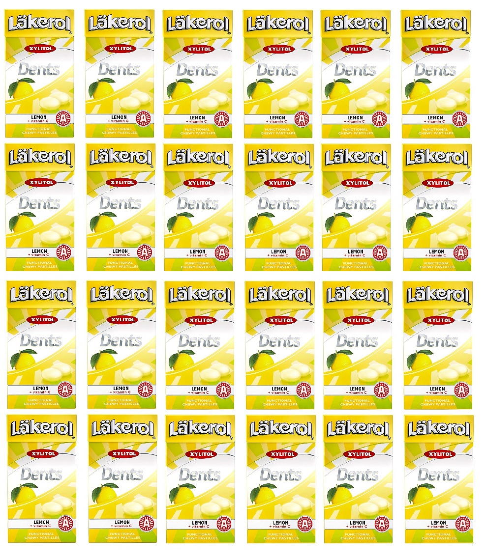 Primary image for Lakerol Dents Lemon + Vitami Swedish Xylitol Candies 36g * 24 pack 30 oz