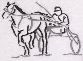 Throw with Embroidered Harness Racing Horse in the Corner (Gray) - $18.99