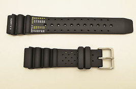 Genuine Citizen 20mm Eco-Drive DIVERS rubber watch band STRAP BLACK BN0... - $50.95