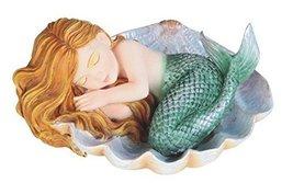StealStreet Redhead Baby Mermaid in Clam Shell Decorative Figurine, Green - $24.99