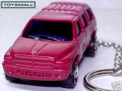 KEY CHAIN 99~2000~2001~2002~2003 RED DODGE DURANGO RING